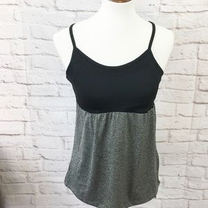 Champion Black Gray baby doll workout top S small